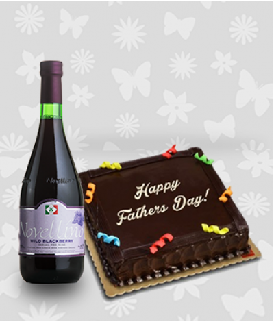 Chocolate Cake and Novellino Wild Blackberry Wine