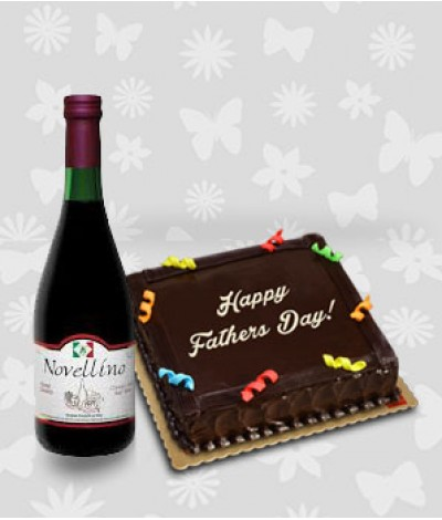 Chocolate Cake and Novellino Rosso Vivace Wine