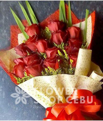 16 Red Ecuadorian Roses