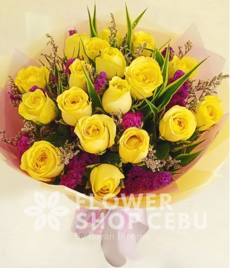 18 pcs. Yellow Roses