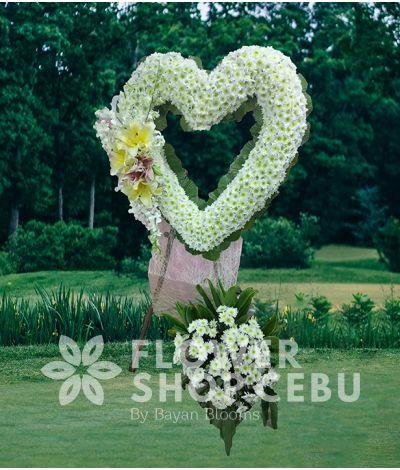 Heart Funeral Flower 2